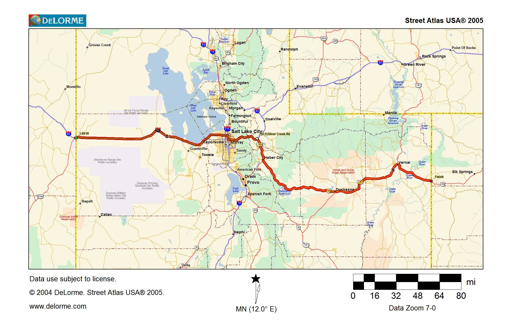 Map 9 – across Utah | Traveling the Lincoln Highway